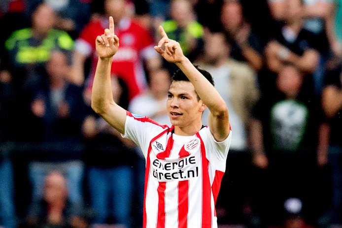 Hirving Lozano staat met Jürgen Locadia symbool voor de goede start van PSV in dit seizoen.