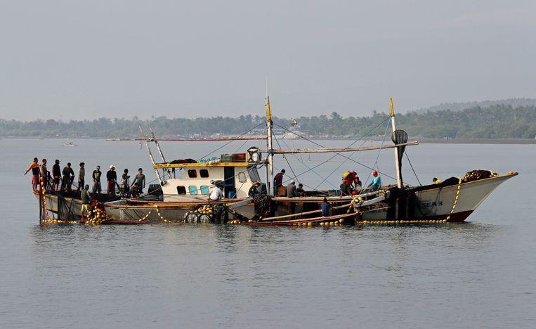 Filipijnse vissers (Illustratiebeeld).