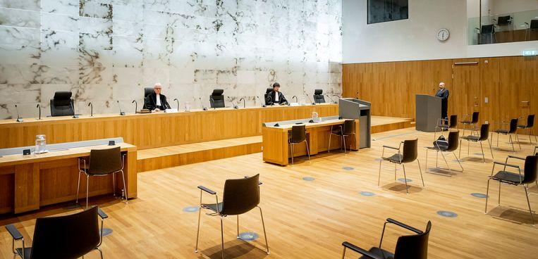 De uitspraak van de Hoge Raad over de veroordeling van Jos de G., veroordeeld voor de verkrachting en het doden van Nicole van den Hurk in 1995. Beeld Koen van Weel / ANP