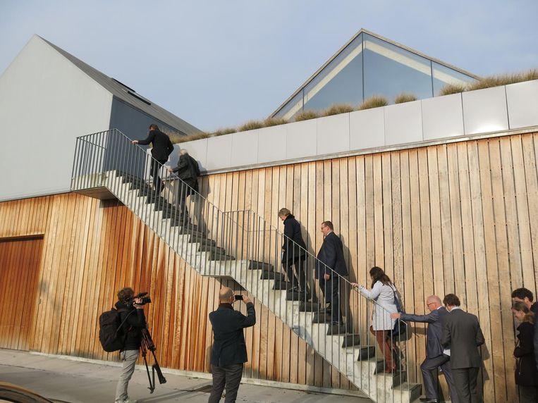 Vlaams minister Joke Schauvliege kwam het winnende bouwproject gisteren bezoeken.