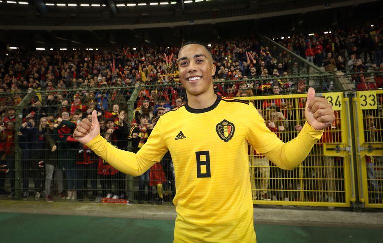Tielemans speelde een knappe partij die hij bekroonde met zijn eerste goal voor België.