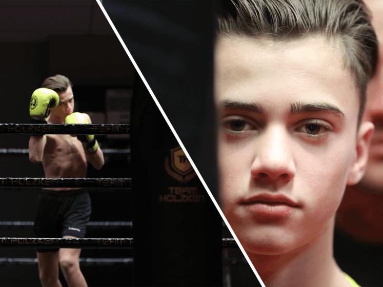Kickbokstalent Geraldo Holzken tekent bij groot sportmerk: 'Dat is mooi op 14-jarige leeftijd'