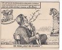 Bernard van Dam gebruikte vaak humor in zijn tekeningen.
