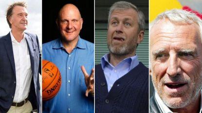 Dit zijn 's werelds 10 rijkste eigenaars van sportclubs, met de nieuwe baas van Team Sky (en straks Chelsea?) meteen in de top 3