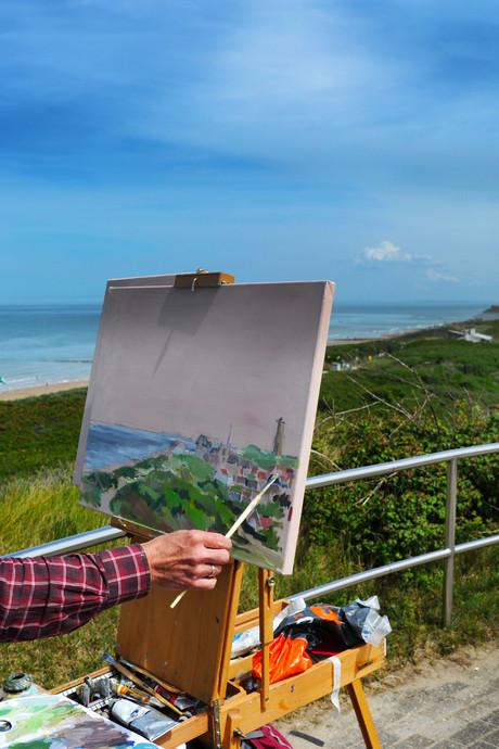 Petra Langekamp beste zondagsschilder in Domburg