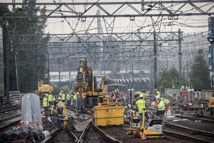 Eindhoven - werkzaamheden aan het spoor (archieffoto ter illustratie)