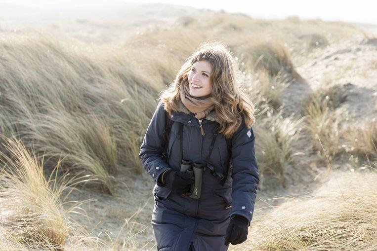 Vogelaar en vlogger Camilla Dreef Beeld Stijn Ghijsen (BinnensteBuiten - KRO - NCRV)