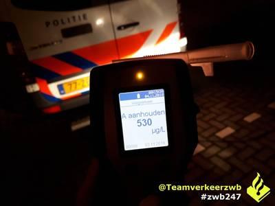 Zes dronken bestuurders opgepakt bij controles in Breda