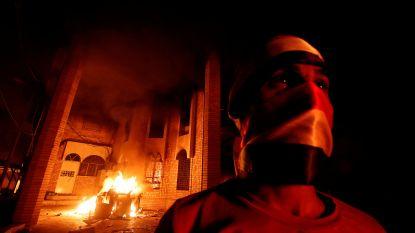Manifestanten steken Iraans consulaat in Irak in brand