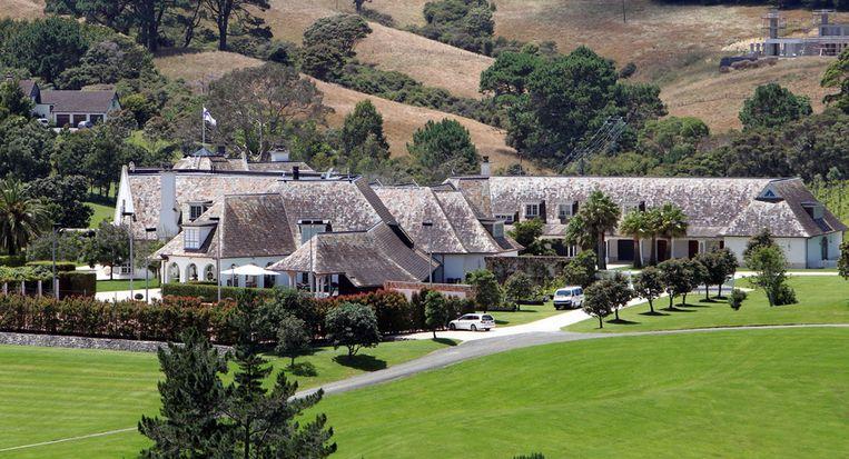 Kim Dotcoms woning in Coatesville, Auckland, bijgenaamd de Dotcom Mansion. Beeld afp