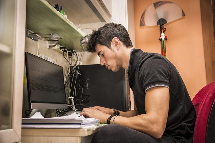 Vooral internationale studenten komen moeilijk aan een kamer.