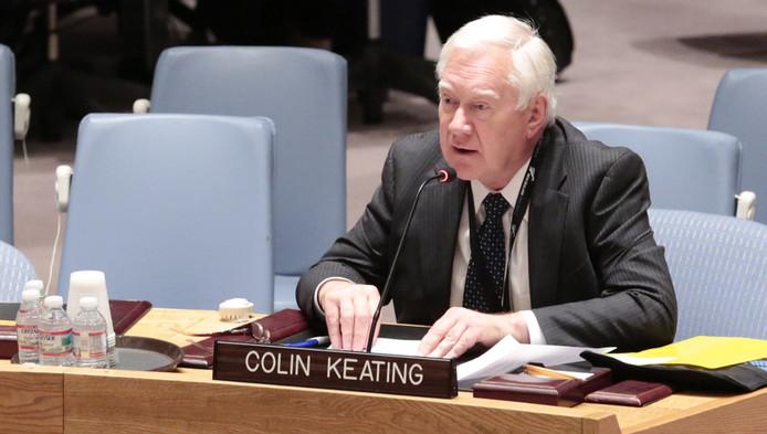 Voormalig hoofd van de Veiligheidsraad Colin Keating.