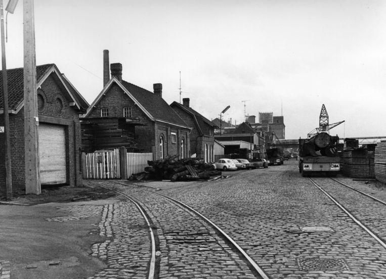 Een beeld uit het archief van Verbindingsspoor der Vaartkaai.