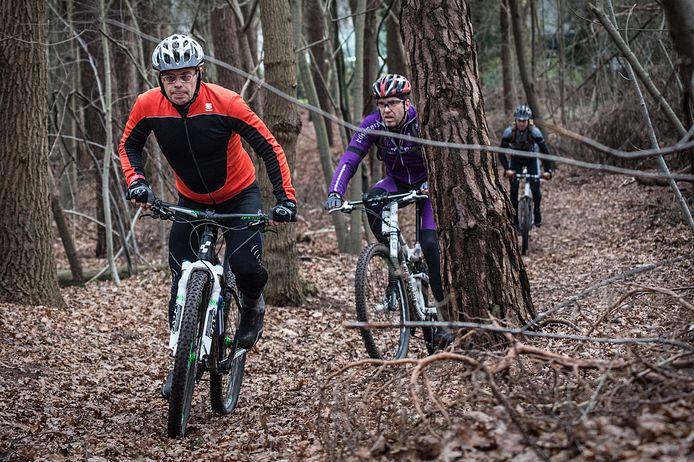 Mountainbikers moeten er dit paasweekend goed op letten dat ze