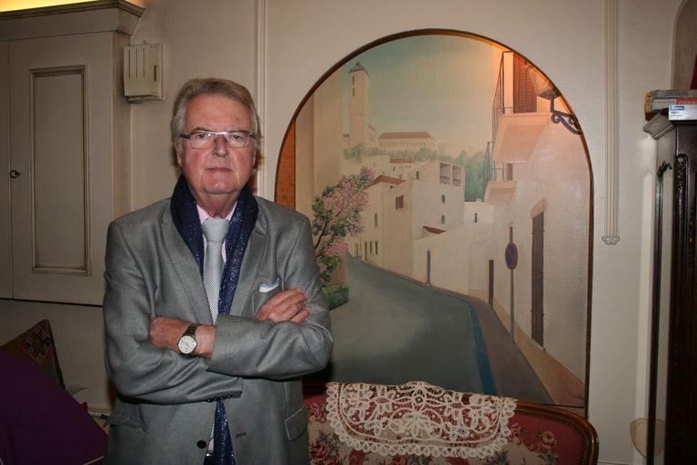 Freddy Mannaerts bij hem thuis bij zijn afscheid uit de actieve politiek