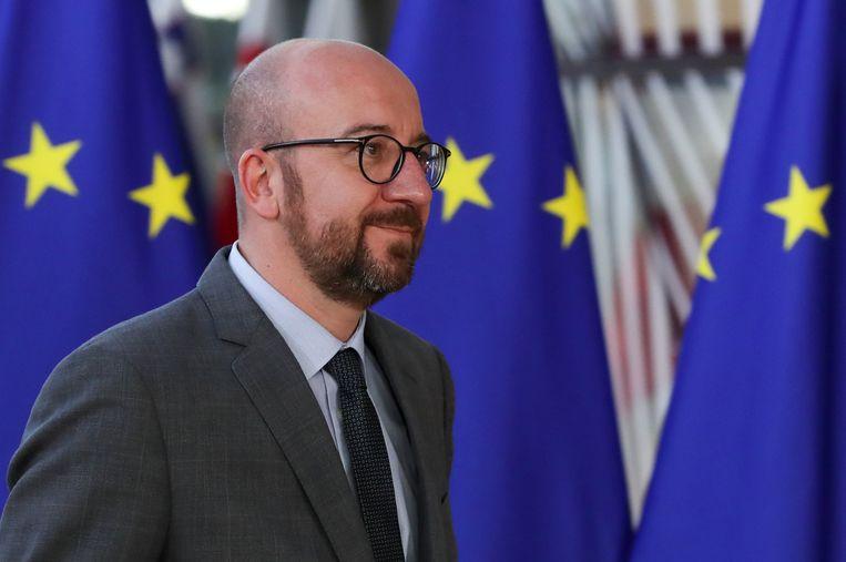 De Belgische premier Charles Michel is blij dat ondanks de naar verluidt stevige discussies de Europese eenheid intact is gebleven.