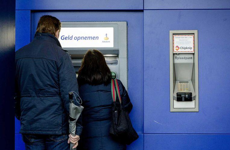 Voornamelijk pinautomaten van de Rabobank worden tijdens de acties niet bijgevuld. Beeld anp