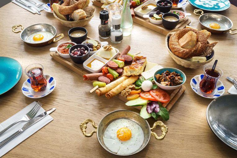 Turks ontbijt bij Podium Mozaïek. Beeld Eigen foto