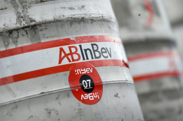 Illustration picture shows AB InBev during the presentation of the first 'Beer boat' (Bierboot - Bateau a biere), of Anheuser-Busch InBev, on Thursday 25 April 2019, in Jupille. From now on, a part of the beer of AB-InBev will be transported by ship, from the port of Liege to the port of Antwerp. BELGA PHOTO JOHN THYS