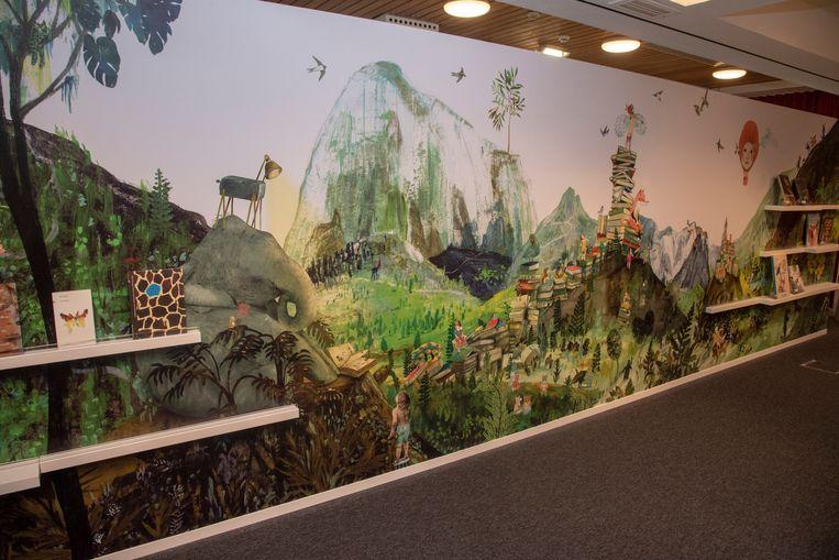 Eén van de blikvangers is een wandschilderiij van Kaatje Vermeire.
