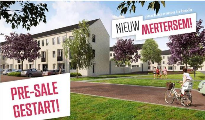 Bouwplan Nieuw Mertersem aan de Laan van Mertersem in Princenhage.