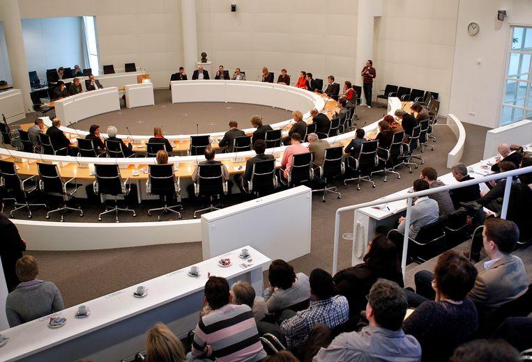 De raadszaal in het Haagse stadhuis. Beeld ANP