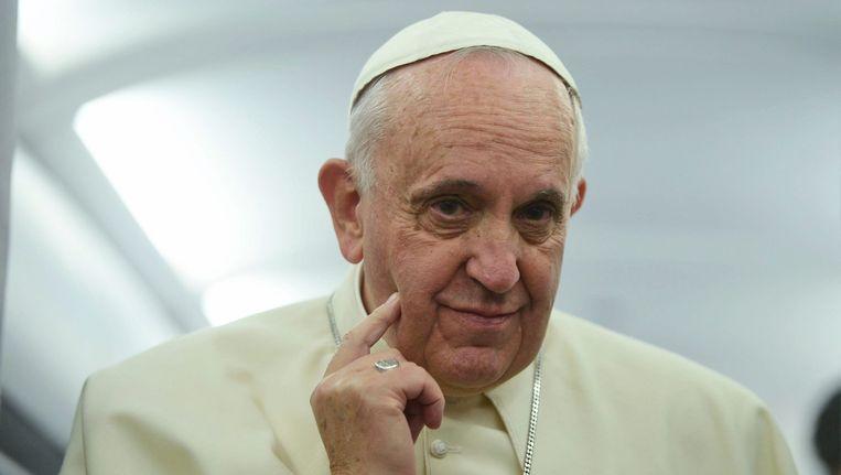 Paus Franciscus, vorige maand na zijn bezoek aan Turkije. Beeld epa