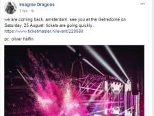 Imagine Dragons ziet uit naar optreden in GelreDome Amsterdam
