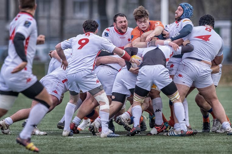 Nederland. Amsterdam, 24-11-2018. Foto: Patrick Post. Rugby Interland tussen Nederland  en Zwitserland. Repo over de Nederlandse rugby speler, Wolf van Dijk. Beeld Patrick Post
