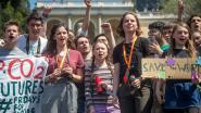 Duizenden klimaatactivisten protesteren met Greta Thunberg en Anuna De Wever in Rome