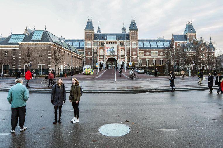 Het Museumplein, 3 december 2018 om 09.09 uur. Beeld Eva Plevier