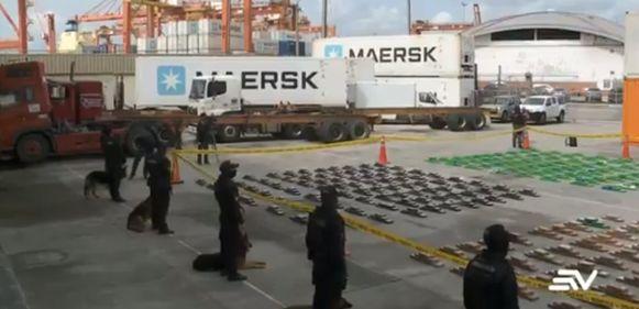 In de haven van Guayaquil, in Ecuador, zijn 3.244 blokken cocaïne ontdekt die verstopt waren in containers met België als bestemming.
