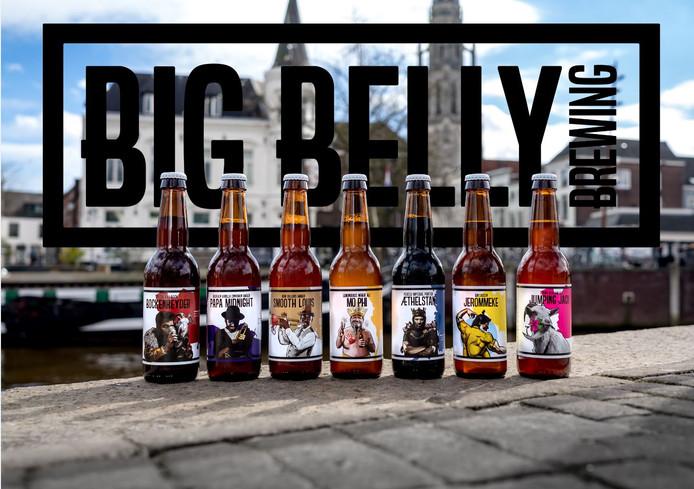 De bieren van de Bredase brouwerij Big Belly Brewing