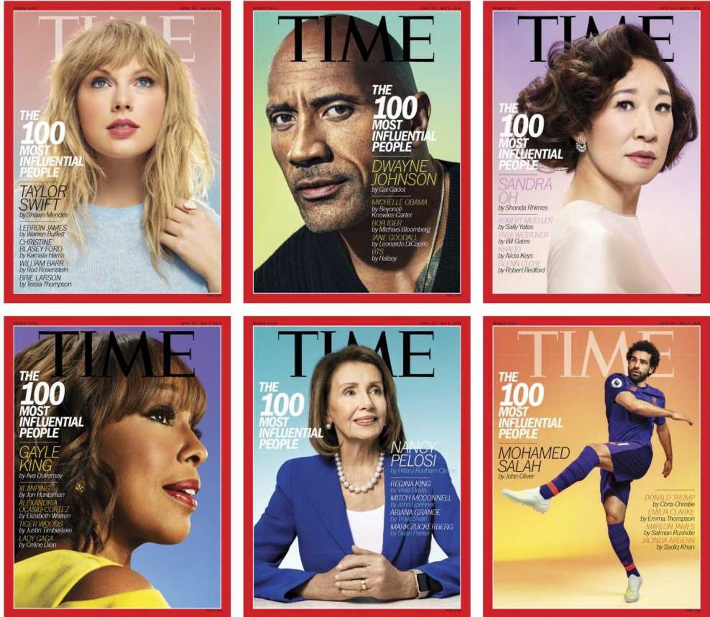 De zes covers van Time afgelopen week. Beeld RV