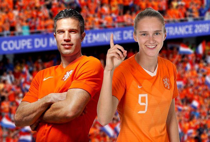Robin van Persie en Vivianne Miedema.
