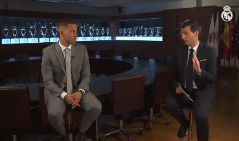 Hazard gaf een interview aan Real TV.