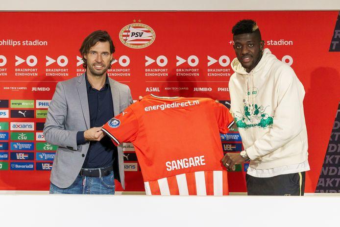 Ibrahim Sangaré en technisch manager John de Jong van PSV.
