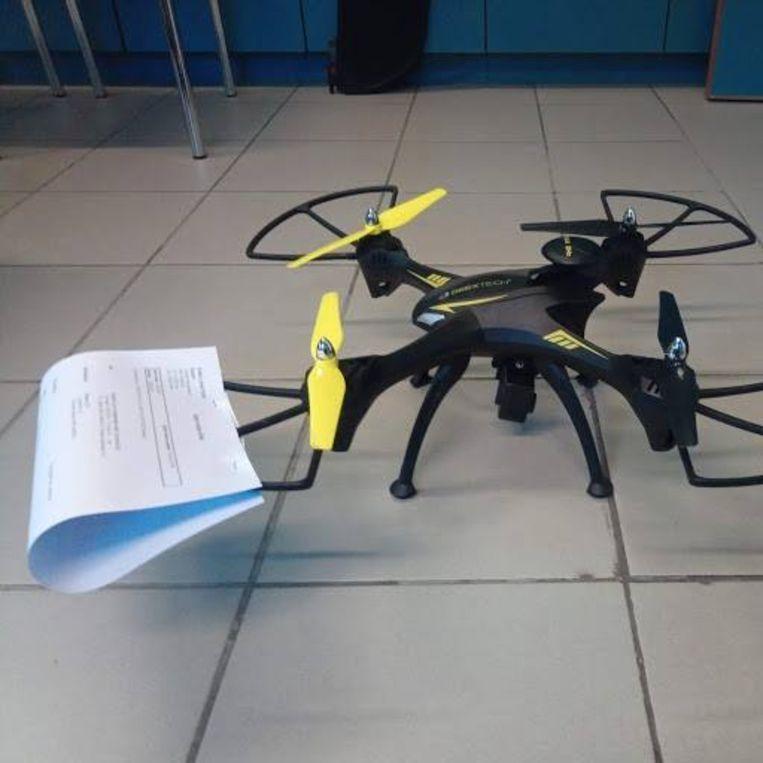 De drone ligt nu bij de politie.