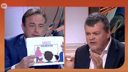"""Hevig debat tussen De Wever en Somers over campagne met gesluierde lerares: """"U moet opletten met de samenleving tegen elkaar op te zetten"""""""