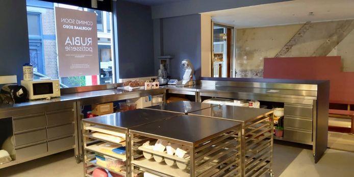 De open keuken van de luxe taartjeszaak aan de Vleeshouwerstraat in Deventer