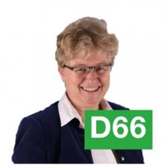 Marion Wierda. Raadslid namens D66 Grave.