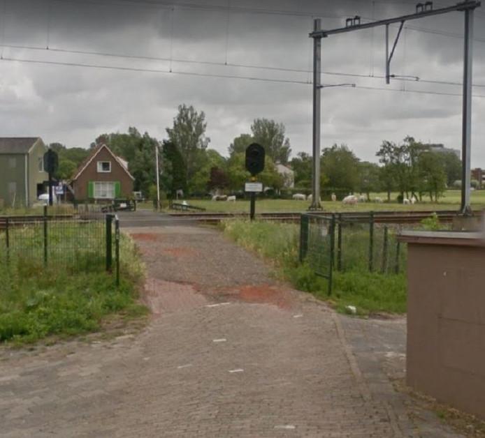 De particuliere overweg in de Van Dalenlaan in Santpoort-Zuid.