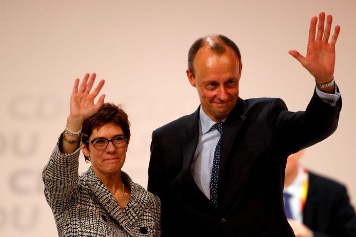 Annegret Kramp-Karrenbauer et Friedrich Merz