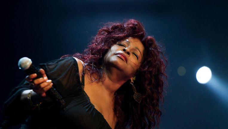 De Amerikaanse soulzangeres Chaka Khan treedt maandag 17 juli op in Paradiso. Beeld anp