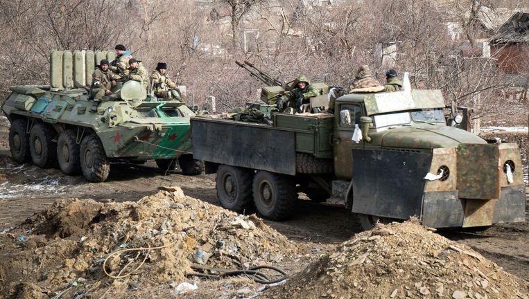 In Debaltseve woedt nog steeds een hevige strijd ondanks een staakt-het-vuren.