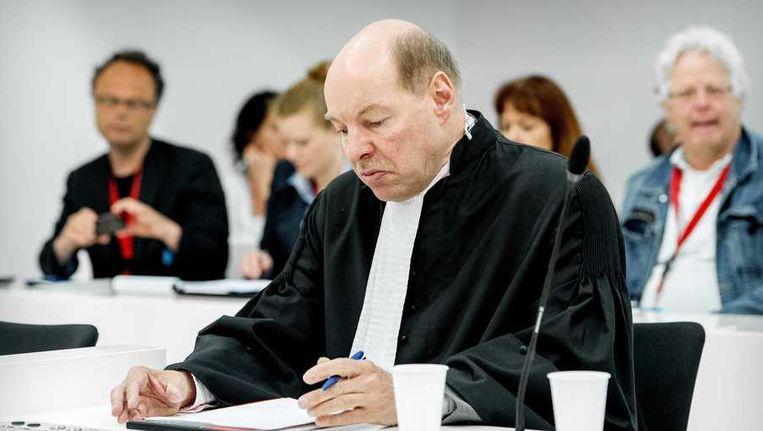Wim Anker, advocaat van Robert M., voorafgaand aan de uitspraak van het hoger beroep tegen hoofdverdachte M. en diens partner Richard van O. in de Amsterdamse zedenzaak. Beeld anp