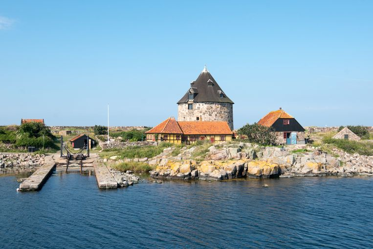 Het kleine Christiansø, een van de 'erwt-eilanden' bij Bornholm. Beeld Eric Lange