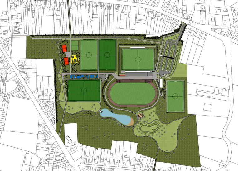 Het 'oude' plan voor de Molenkouter. Na de zomer wordt een nieuw participatietraject met de buurt opgestart.