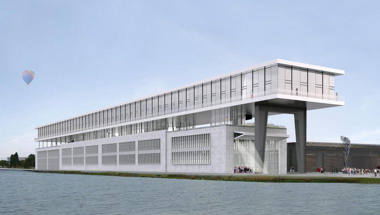 In Koolhaas' ontwerp krijgt de oude fabriek een opbouw met onder andere 150 hotelkamers Beeld OMA
