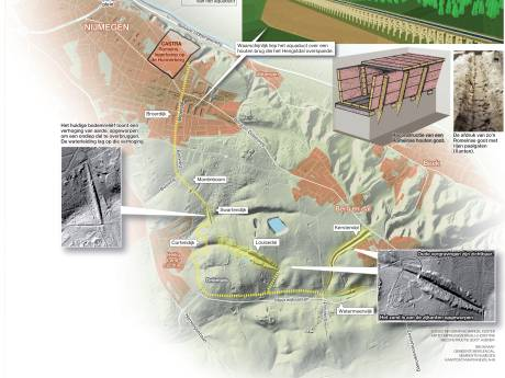 Weer meer te zien van 'hoogstwaarschijnlijk' Romeins aquaduct tussen Berg en Dal en de Hunnerberg